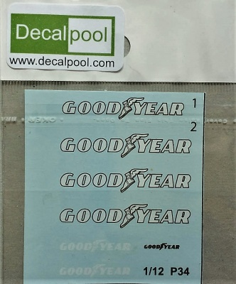 Tyrrell P34 1976' Goodyear logo Decal for Tamiya - Decalpool