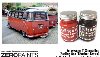 Volkswagen T1 Samba Bus (Sealing Wax - Chestnut Brown) 2x30ml - Zero Paints