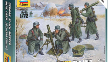 Wargames (WWII) figurky 6209 - Ger. 80mm Mortar with Crew (Winter Unif.) (1:72)