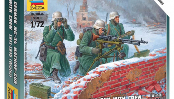 Wargames (WWII) figurky 6210 - Ger. Machine-gun with Crew (Winter Uniform) (1:72)