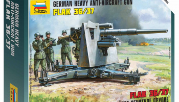 Wargames (WWII) military 6158 - German 88mm Flak 36/37 (1:72)