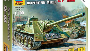Wargames (WWII) military 6211 - Self-propelled Gun SU-100 (1:100)