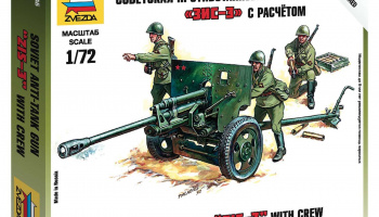 Wargames (WWII) military 6253 - Soviet 76mm anti-tank gun ZIS-3 (1:72)