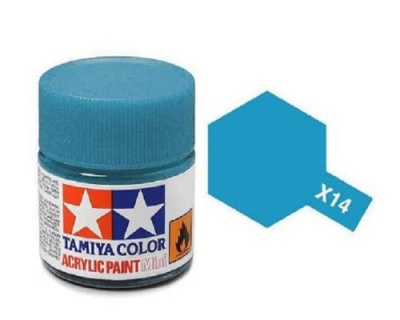 X-14 Sky Blue Acrylic Paint Mini X14 - Tamiya