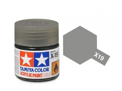 X-19 Smoke Acrylic Paint Mini X19 - Tamiya