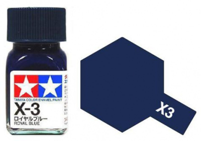 X-3 Royal Blue Enamel Paint X3 - Tamiya