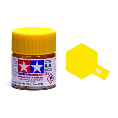 X-8  Lemon Yellow Acrylic Paint Mini X8 - Tamiya