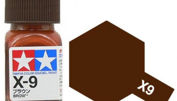 X-9 Brown Enamel Paint X9 - Tamiya