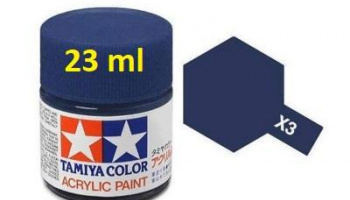 X-3 Royal Blue Acrylic Paint 23ml X3 - Tamiya