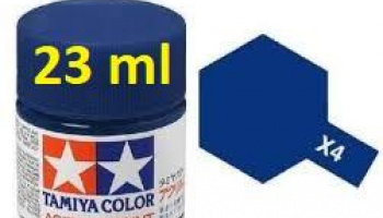 X-4 Blue Acrylic Paint 23ml X4 - Tamiya
