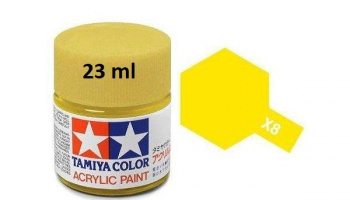 X-8 Lemon Yellow Acrylic Paint 23ml X8 - Tamiya