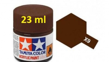 X-9 Brown Acrylic Paint 23ml X9 - Tamiya