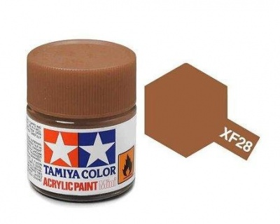 XF-28  Dark Copper Acrylic Paint Mini XF28 - Tamiya
