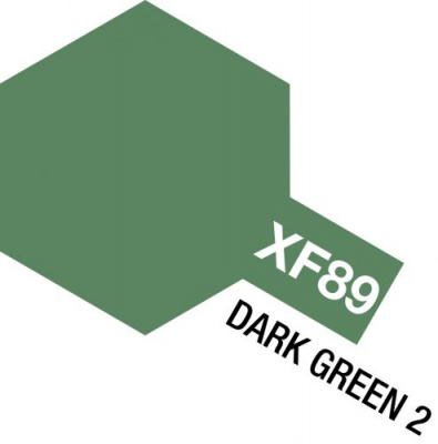 XF-89 Dark Green 2 Acrylic Paint Mini XF89 - Tamiya