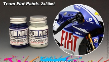 Yamaha YZR-M1 Team Fiat 2009 Paint Set 2x30ml - Zero Paints