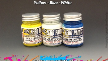 Williams FW11B Blue/Yellow Paint Set 3x30ml - Zero Paints