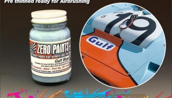 Ford GT40 and Porsche 917K - Gulf Blue - Zero Paints