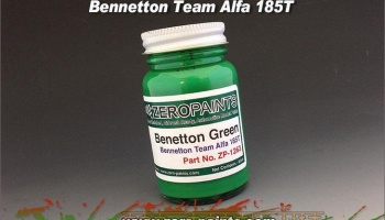 Benetton Team Alfa Romeo 185T Green (United Colors of Benetton Green) Paint - Zero Paints