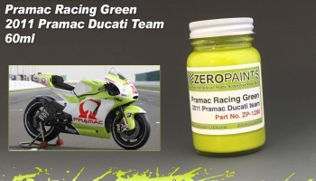 Pramac Racing Green Paint - 2011 Pramac Ducati Team 60ml - Zero Paints