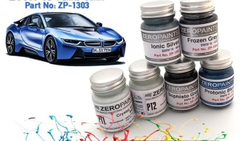 BMW i8 Paints Crystal White 2x30ml - Zero Paints