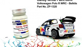 Candy White Paint for Volkswagen Polo R WRC - Belkits 60ml - Zero Paints