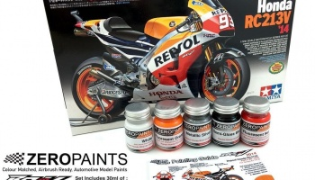 Repsol Honda RC213V 2014 Paint Set 5x30ml - Zero Paints