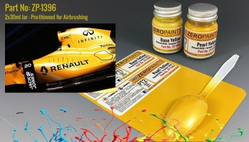 Renault RS16 Formula 1 2016 - Pearl Yellow Set 2x30ml - Zero Paints