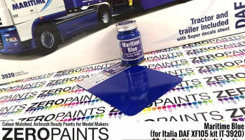 Maritime Blue Paint 60ml - (for Italia DAF XF105 kit IT-3920) - Zero Paints