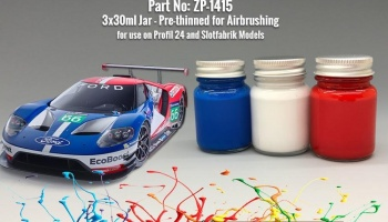 Ford GT Le Mans 2016 - Daytona 2016 Paint Set 3x30ml - Zero Paints