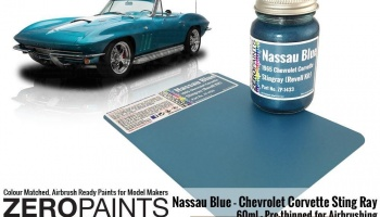 Nassau Blue Paint - 1965 Chevrolet Corvette 60ml - Zero Paints
