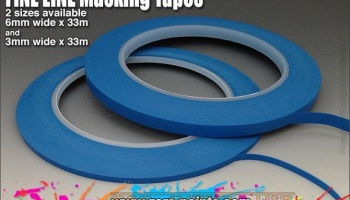Fine Line Masking Tape - 3mm x 33m - Zero Paints